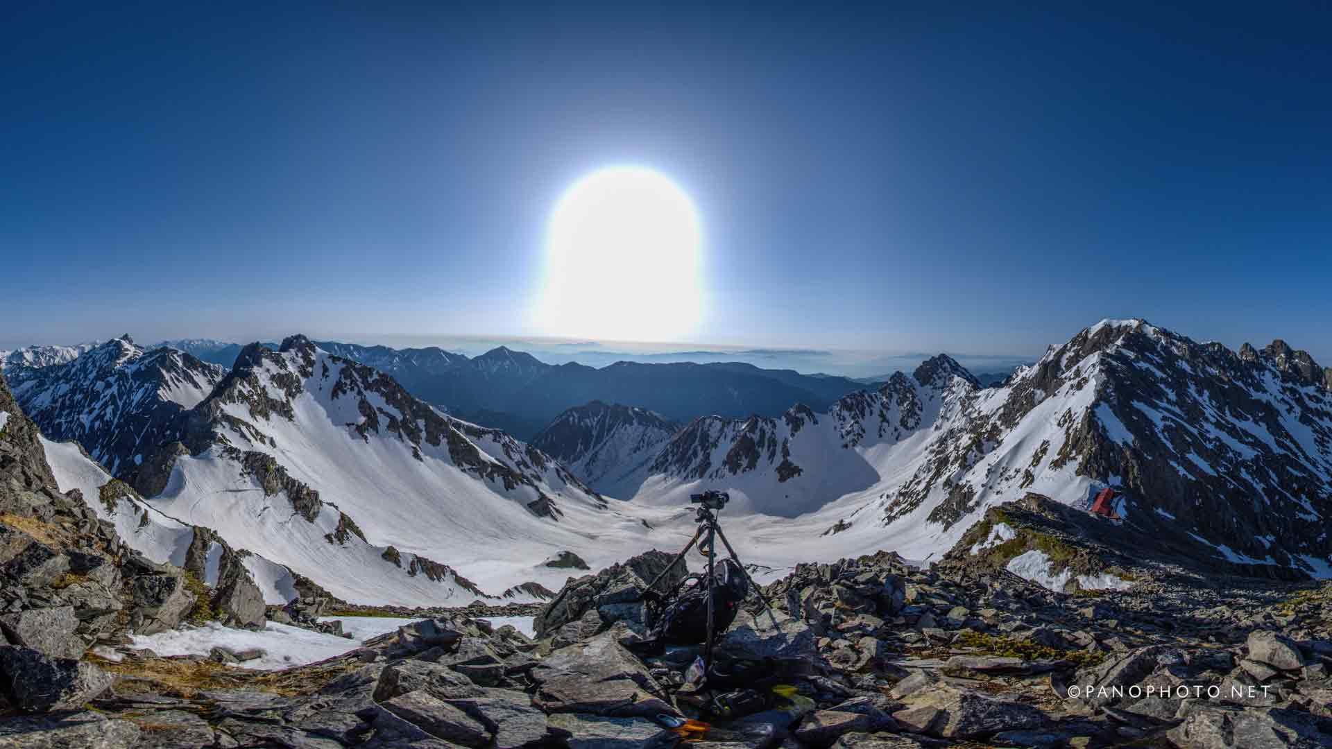 Karasawa view from Karasawadake Peak | Nikon D810 + Nikon AF Fisheye-Nikkor 16mm f/2.8D