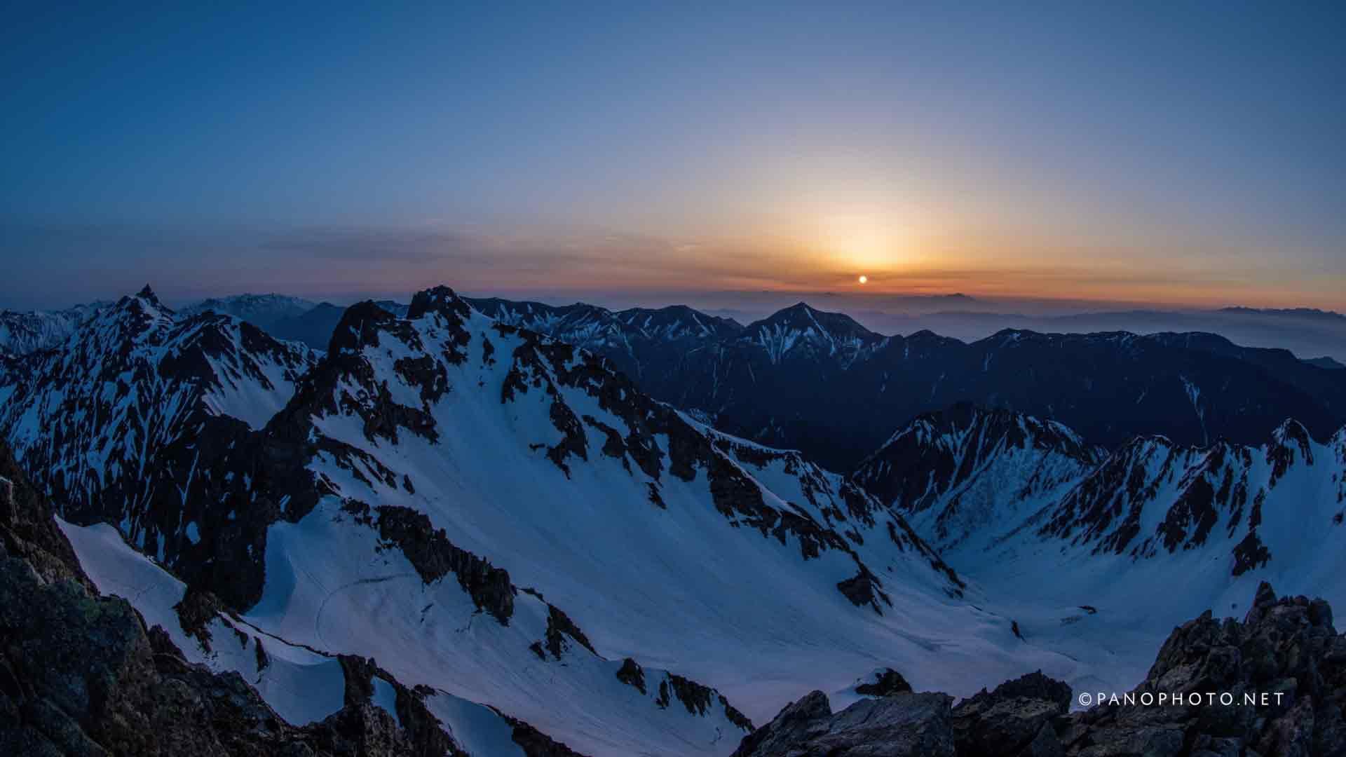 Sunrise view from Karasawadake Peak | Nikon D810 + Nikon AF Fisheye-Nikkor 16mm f/2.8D